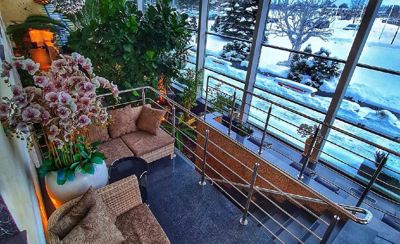 Vaade Wellnesskeskuse Orhidee aknast